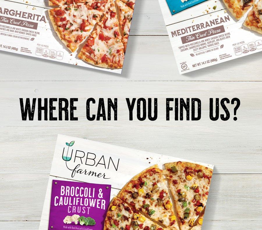 Where can you find Urban Farmer veggie-crust pizza?