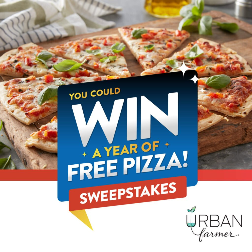 You could win a year of free pizza from Urban Farmer!